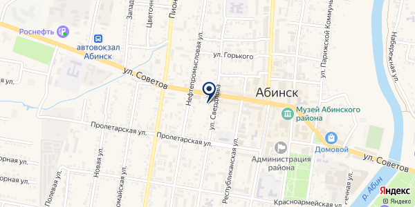 Print-Line на карте Абинске