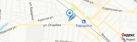 Харцызская общеобразовательная школа I-III ступеней №6 на карте Харцызска