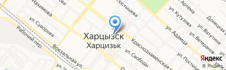 Отдел образования Харцызского городского совета на карте Харцызска