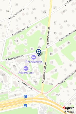 ГОСТИНИЦА ПИКАДИЛЛИ на карте Жуковского