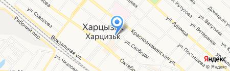 Овощи и фрукты магазин на карте Харцызска