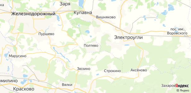Полтево на карте