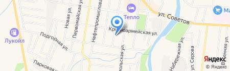 Источник на карте Абинска