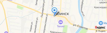 LTB на карте Абинска