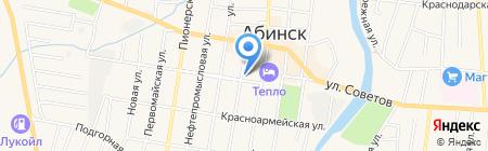 Магнит на карте Абинска