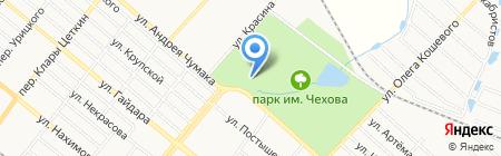 Харцызский городской бассейн на карте Харцызска