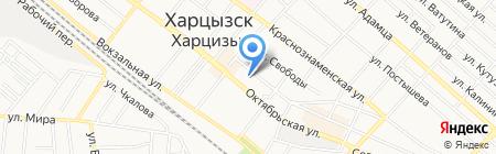 Харцызская общеобразовательная школа I-III ступеней №1 на карте Харцызска