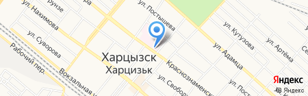 Киоск по ремонту обуви и изготовлению ключей на карте Харцызска