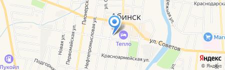 Южный на карте Абинска