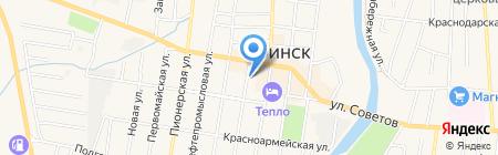 Источик окон на карте Абинска