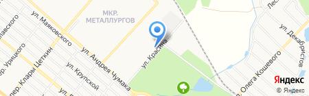 Еленовская мука на карте Харцызска