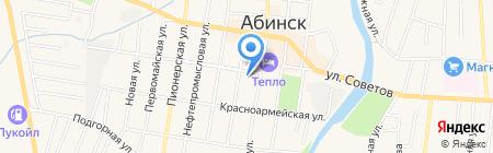Аптека №59 на карте Абинска