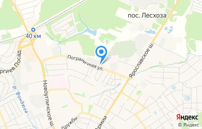 Местоположение на карте пункта техосмотра по адресу Московская обл, г Сергиев Посад, ул Пограничная, д 5