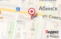 Схема проезда до компании Ростелеком для бизнеса в Абинске