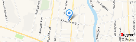 Магазин строительных материалов на карте Абинска