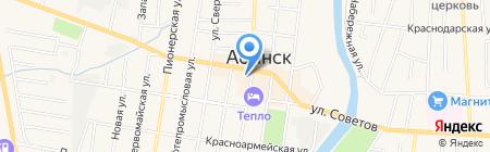 Почтовое отделение на карте Абинска