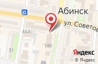 Схема проезда до компании Ростелеком в Абинске