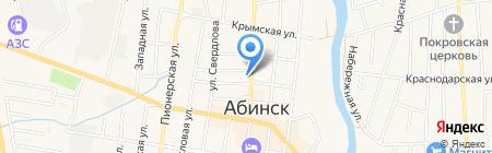 Апрель на карте Абинска