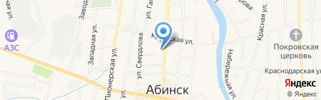 Фиалка на карте Абинска