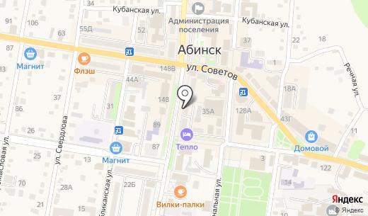 Билайн. Схема проезда в Абинске