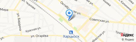 Родина на карте Харцызска