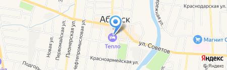 Банька на дровах на карте Абинска