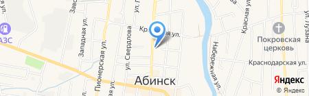 Мона на карте Абинска