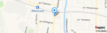 Яни на карте Абинска
