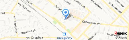 Прокуратура г. Харцызска на карте Харцызска