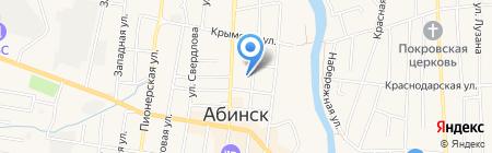 Банкомат КБ Кубань Кредит на карте Абинска