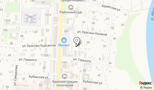 КБ Кубань Кредит. Схема проезда в Абинске