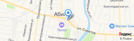 Абинкапстрой на карте Абинска