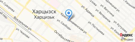 КБ ПриватБанк ПАО на карте Харцызска