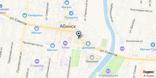 Абинский на карте Абинске