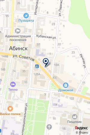 В центре на карте Абинска