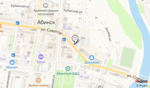 Центр Микрофинансирования. Схема проезда в Абинске