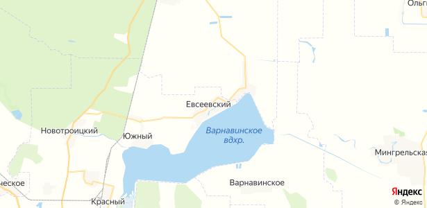 Евсеевский на карте