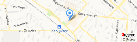 Беркут на карте Харцызска