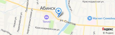 Жар-птица на карте Абинска