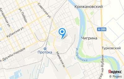 Местоположение на карте пункта техосмотра по адресу Краснодарский край, г Славянск-на-Кубани, ул Пограничная, влд 4