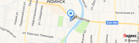 Абинский хлебокомбинат на карте Абинска