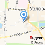 Средняя общеобразовательная школа №1 на карте Узловой