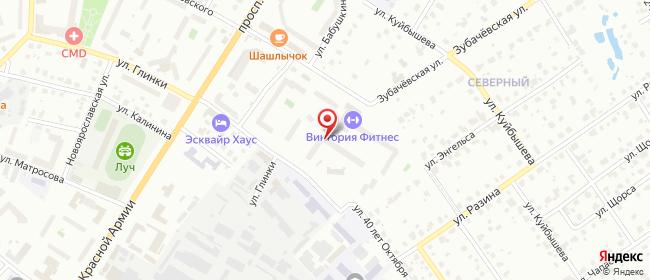 Карта расположения пункта доставки Северный в городе Сергиев Посад