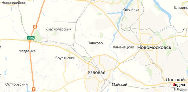 Пашково на карте