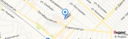A & T на карте Харцызска