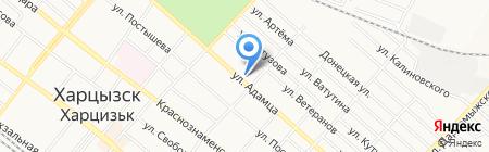 Харцызские электрические сети на карте Харцызска