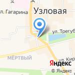 Магазин зоотоваров на карте Узловой