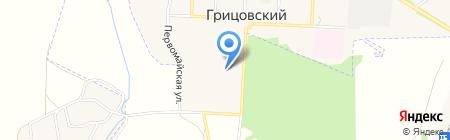 Грицовская средняя общеобразовательная школа на карте Грицовского