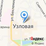 Магазин дисков на карте Узловой