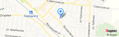 Харцызская общеобразовательная школа I-III ступеней №4 на карте Харцызска